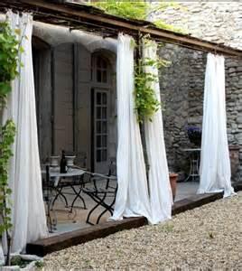 Curtains For Pergola White Curtains Pergola Outdoor Rooms Porches Patio Pinte