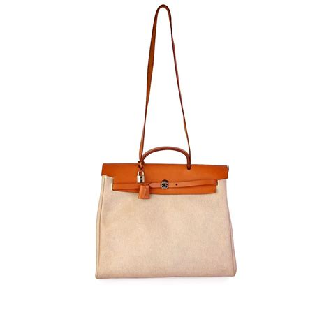 Hermes Birkin Canvas 1 hermes leather canvas herbag 2 in 1 beige luxity