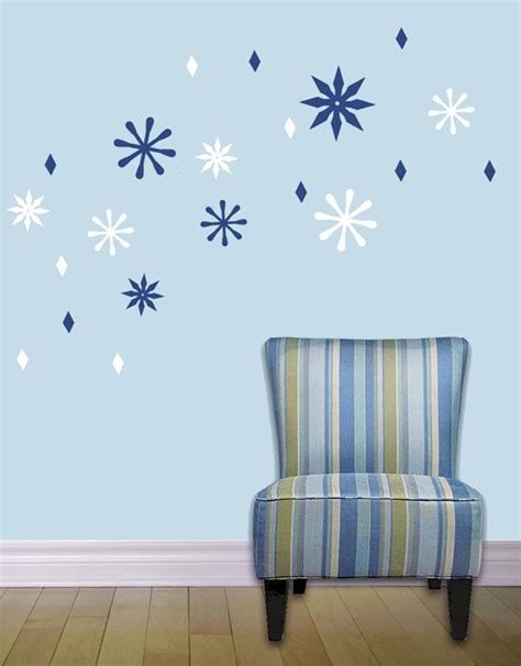 Wall Sticker Snowflakes snowflake wall decals stickers