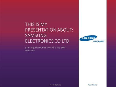 Samsung PowerPoint Template   PresentationGO.com