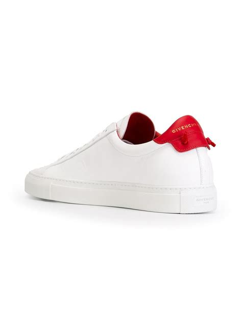 s givenchy sneakers lyst givenchy classic leather low top sneakers in white