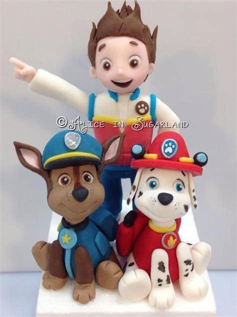 paw patrol cake decorations paw patrol cake toppers fondan figurice