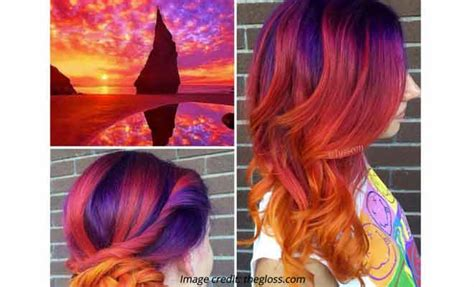 sunset hair color sunset hair the prettiest hair color trend in fashion