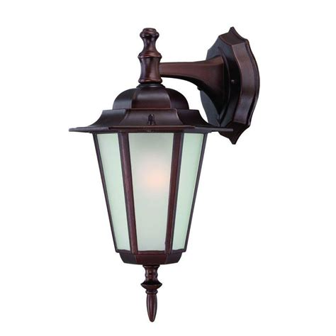 yard lighting fixtures acclaim lighting camelot collection 1 light architectural bronze outdoor wall mount light