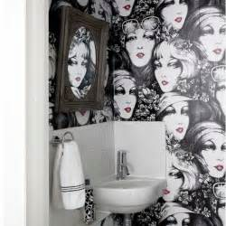 quirky wallpaper bathroom monochrome room ideas bathroom ideas housetohome co uk