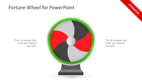 wheel of fortune template for powerpoint fortune wheel powerpoint template slidemodel