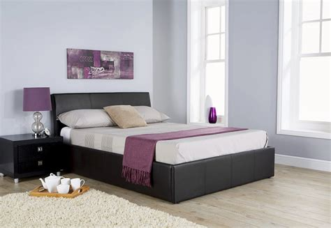 black leather ottoman bed alaska black leather ottoman bed frame dublin beds