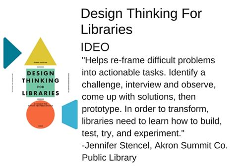 design thinking for libraries manual for the future of librarianship tools
