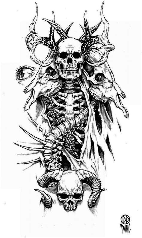 classic skull tattoo designs design by danieldahl on deviantart tattoos