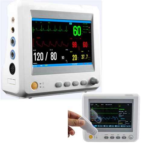 Monitor Icu ce 7 inch icu patient monitor 6 parameter vital sign nibp resp temp spo2 pr ebay