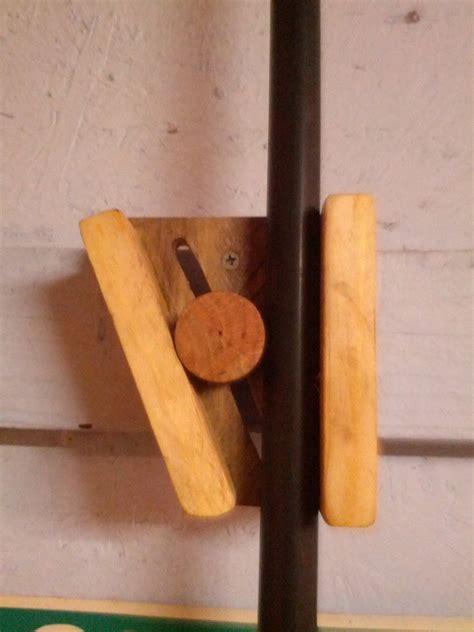 Make Hanger - wooden broom holder tools storage broom