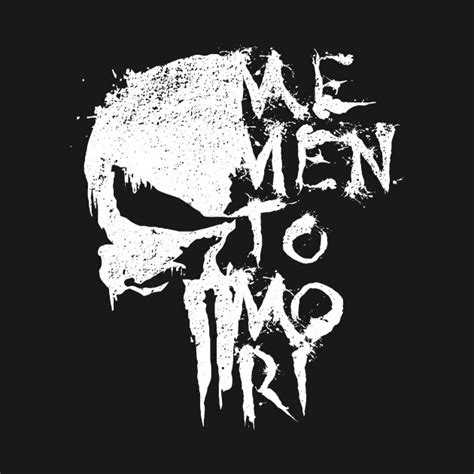 memento mori the punisher t shirt teepublic