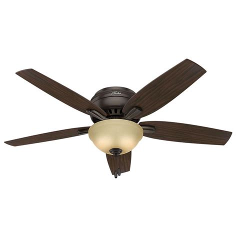 52 Ceiling Fans With Lights Newsome 52 In Indoor Premier Bronze Bowl Light Kit Low Profile Ceiling Fan 53314 The