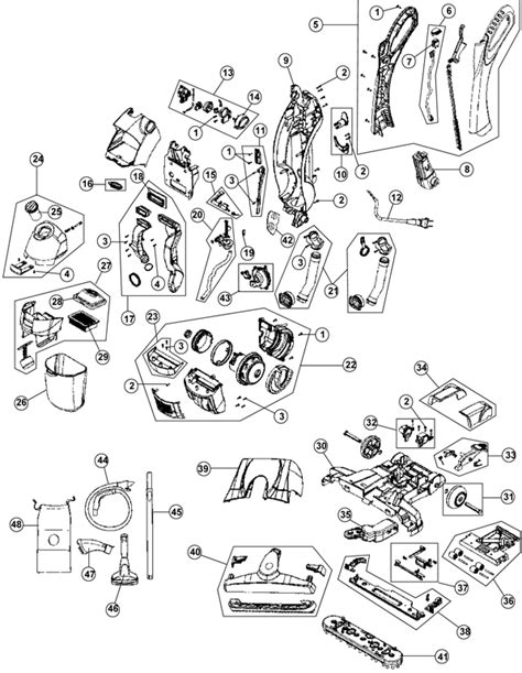 hoover floormate parts diagram hoover fh40030 floormate vacuum cleaner parts