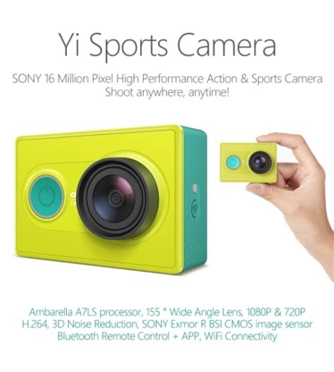 tutorial xiaomi yi cam xiaomi launches yi sports camera pinoy tech blog