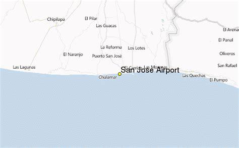 san jose airport map san jose airport weather station record historical