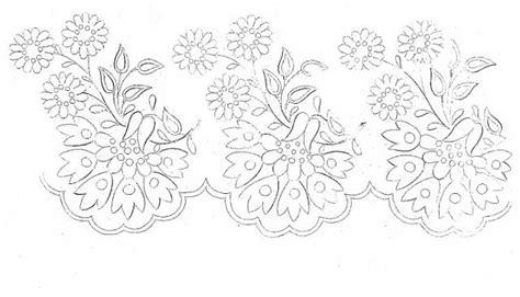 disegni di fiori da ricamare disegno da ricamare fiori e foglie bordo magiedifilo it