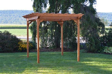 Western Cedar Pergola Kit Wood Cedar Pergola From Dutchcrafters Amish Furniture