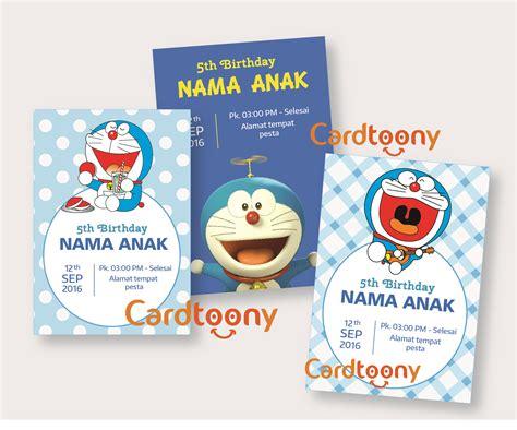 jual kartu undangan ulang tahun anak lucu birthday invitation doraemon cardtoony