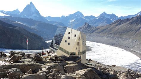 monte rosa hutte the world s most non settlements planetizen the