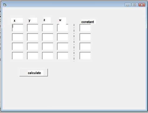 calculator gauss jordan gauss jordan elimination calculator vb6 dream in code