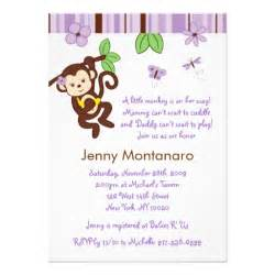 mod monkey custom baby shower invitation 5 quot x 7 quot invitation card zazzle