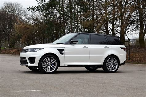 wrapped range rover sport range rover sport svr wrapped in satin pearl white
