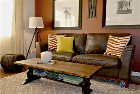 coffee table for brown leather couch painted black and stained trestle style coffee table with