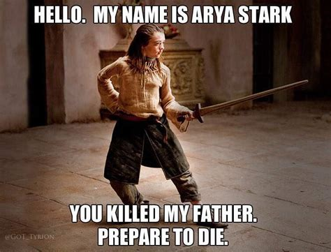 Arya Meme - arya stark of winterfell all the memes you need to see
