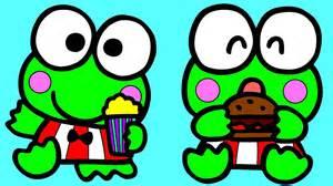 keroppi frog kitty coloring kids keroppi baby coloring