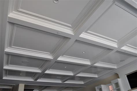 newport paint grade coffered ceiling
