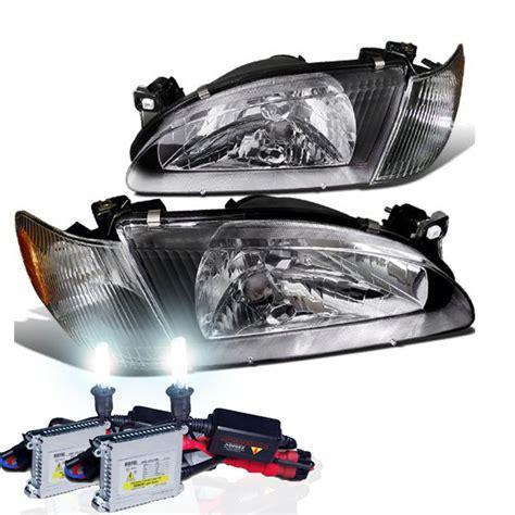 2000 toyota corolla headlight 1998 2000 toyota corolla ce le ve oem black headlights