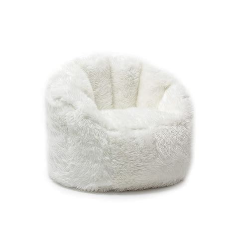 Bean Bag Chairs For Tweens by Bean Bag Chair For Adults White Fluffy Shaggy