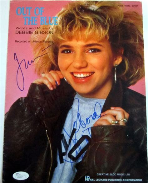 Out Of The Blues Original debbie gibson real signed 1986 out of the blue original sheet jsa coa ebay