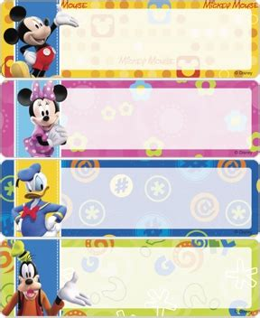 name tag design cartoon character mickey fun tastic address labels bj s checks