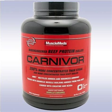 creatine or protein powder musclemeds carnivor 4 lb 56 servings beef protein
