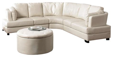 transitional leather sectional coaster landen contemporary curved leather sectional in