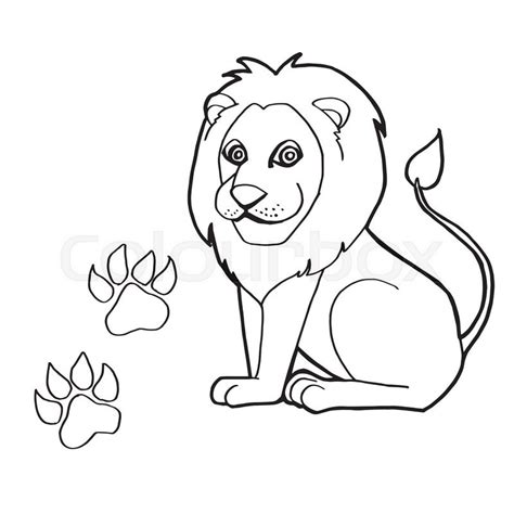 lion paw coloring page lion paw coloring pages