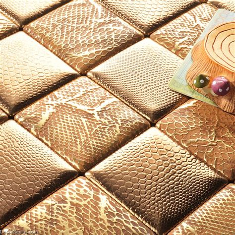 decorgenius gold mosaic floor tile home living room