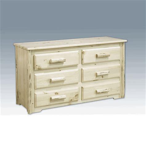 Pine Log Dresser by Amish Quot Montana Quot Pine Log Dresser 6 Drawer