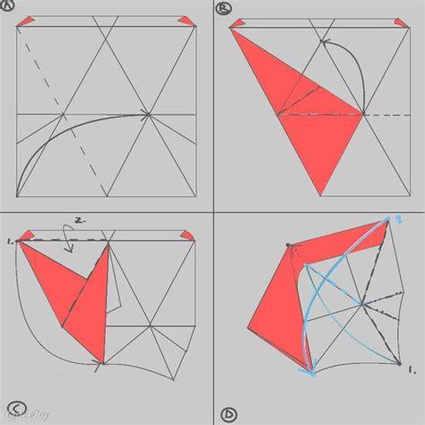 Origami Tetrahedron - origami single sheet tetrahedron 3