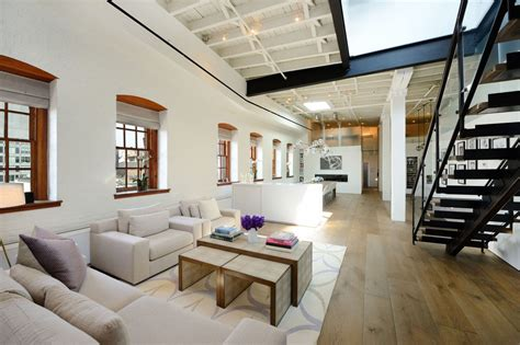Modern Warehouse Interior Design by Warehouse Penthouse Loft Blends Modern New York With Old