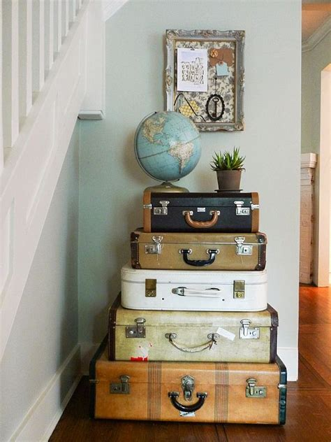 travel themed home decor vintage luggage home decor