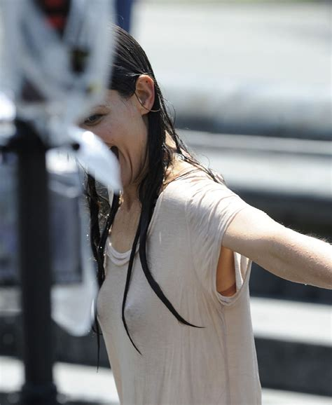 young teen girls water park see through katie holmes wet t shirt and see through pokies at water