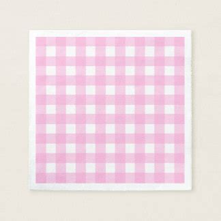 pink pattern paper napkins pink gingham paper napkins zazzle