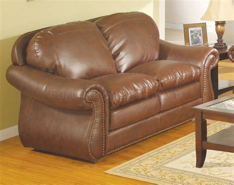 traditional leather loveseat brown bonded leather traditional sofa w optional loveseat