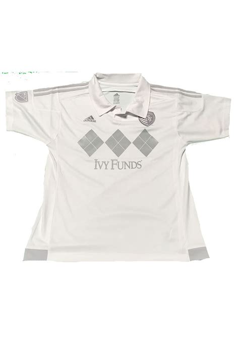 white house youth soccer sporting kansas city youth white youth third soccer jersey 13341792