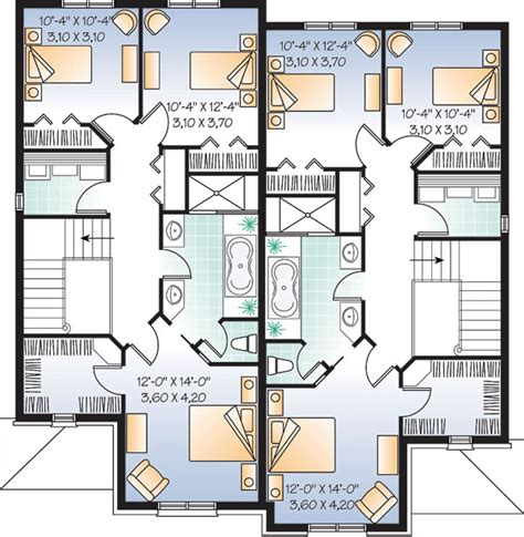 2 family home plans multi family plan 65339 at familyhomeplans com