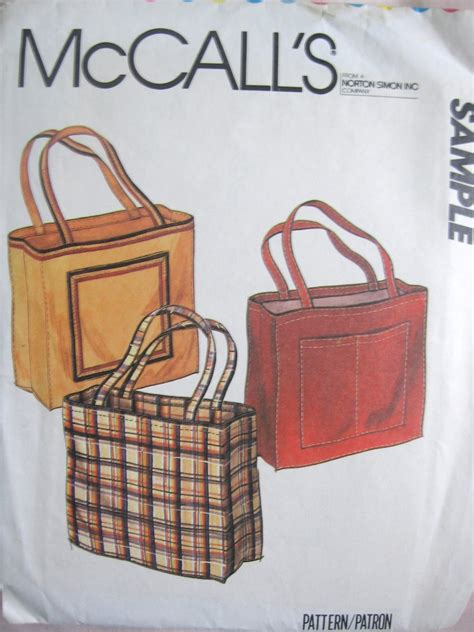 tote bag pattern mccalls mccall s sle pattern for tote bags uncut