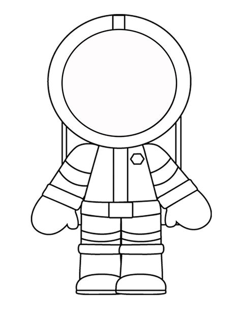 astronaut template free coloring pages of astronaut for preschool